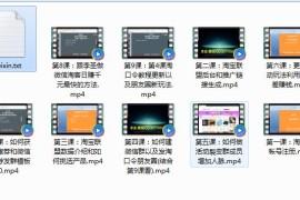 李圣微信淘宝客精品网赚视频教程分享